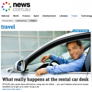 Car rental article on news.com.au